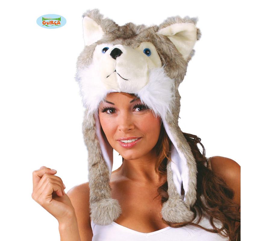 Gorro o Sombrero de Perro Husky Siberiano. Ideal para Colegios y para todo tipo de Fiestas y Despedidas. Es un muy calentito ideal para los sitios donde hace frío.