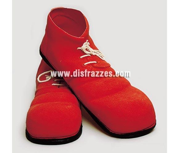 Zapatos de Payaso rojos de látex de 35 cm.