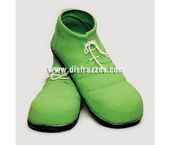Zapatos de Payaso verdes de látex de 35 cm.