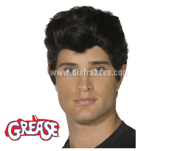 Peluca de Danny Zuko de Grease adulto. También podría valer como peluca de Elvis o Rockero.