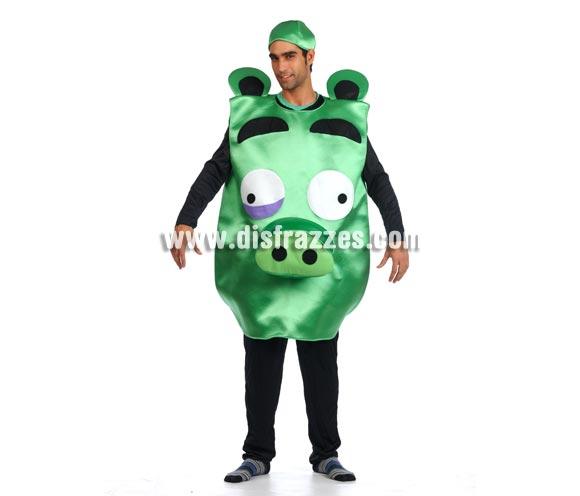 Disfraz de Cerdo Verde para adultos. Talla Universal de adultos. Incluye disfraz y gorro.