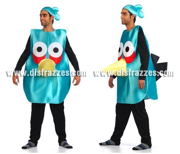Disfraz de Pájaro azul para adultos. Talla Universal de adultos. Incluye disfraz y gorro.