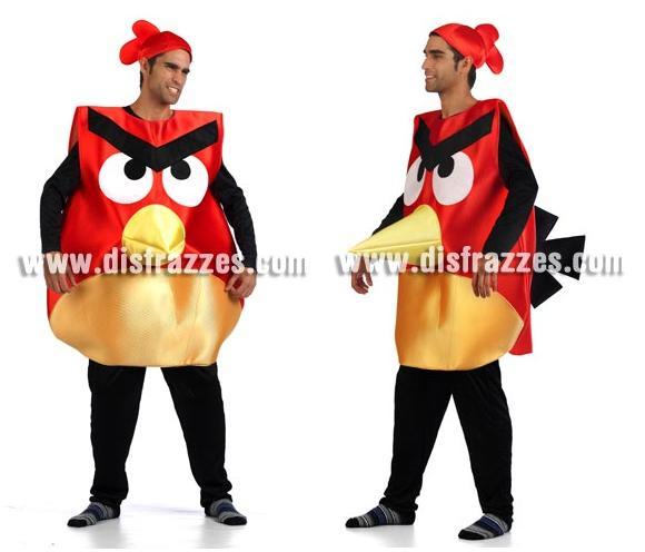 Disfraz de Pájaro rojo para adultos. Talla Universal de adultos. Incluye disfraz y gorro.
