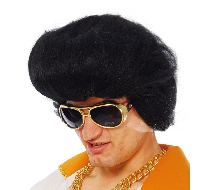Peluca de Elvis Rey del Rock con tupé.