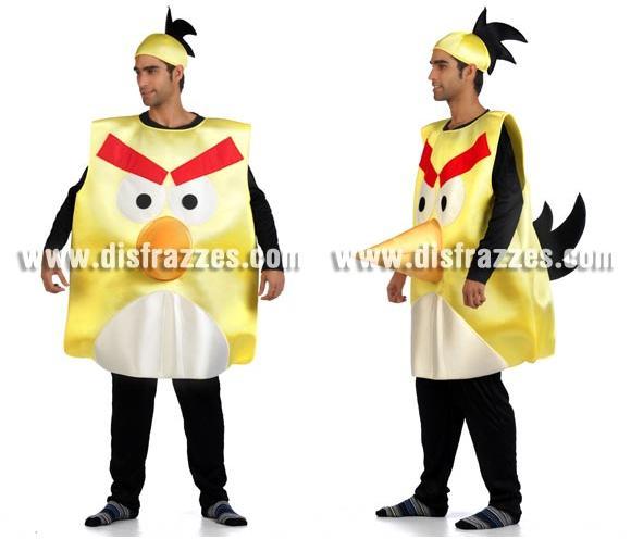 Disfraz de Pájaro amarillo para adultos. Talla Universal de adultos. Incluye disfraz y gorro.
