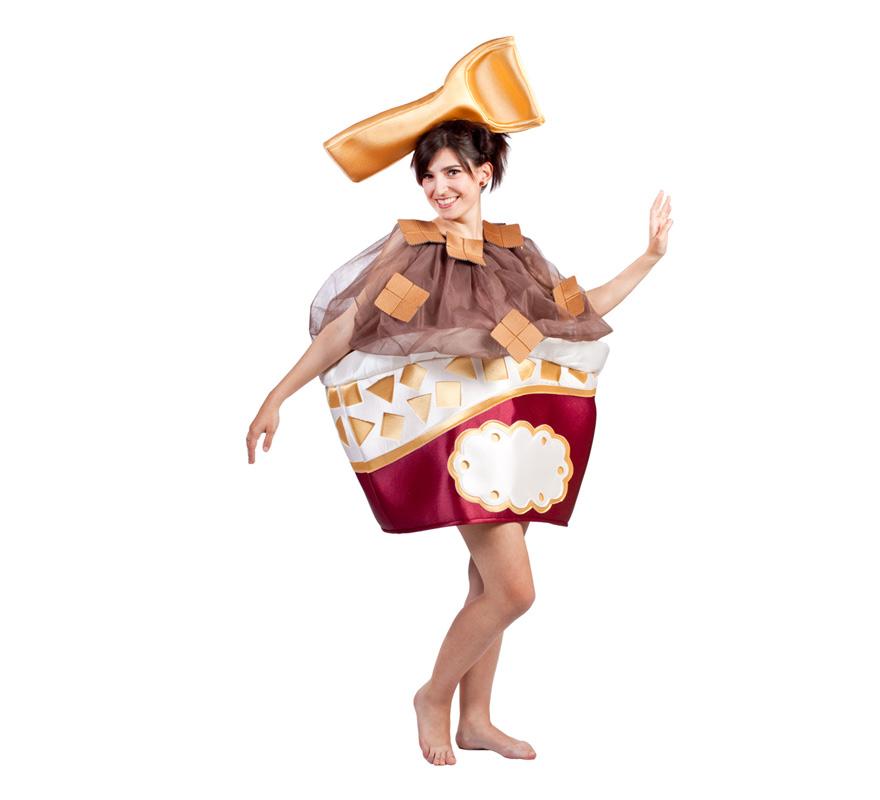 Disfraz EXCLUSIVO de Tarrina de Helado para adultos. Talla Universal de adultos. Medias NO incluidas. Disfraz propiedad e invención de Disfrazzes.com, fabricado exclusivamente para nuestra MARCA, no lo encontrarás en otro sitio y si lo encuentras, es que nos lo han copiado. ATENCIÓN GRUPOS Y COMPARSAS, podemos sacar el precio para hacerlo en distintas edades, pero siempre un mínimo de 6 uds. por talla. También se pueden hacer de distintos colores o mejor dicho, sabores.