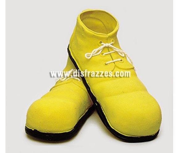 Zapatos de Payaso amarillos infantil de látex 24 cm.