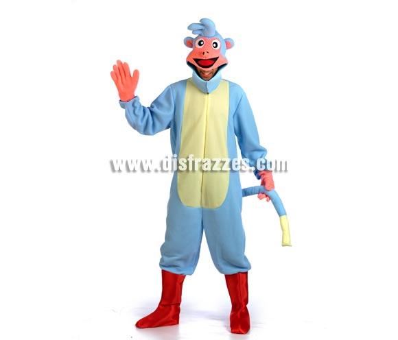 Disfraz de Mono azul con Botas para adultos. Talla M-L de adultos. Incluye disfraz completo tal y como muestra la imagen. El amigo de Dora la Exploradora.