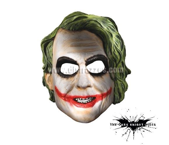 Máscara de Joker (el malo de Batman) para Carnaval o Halloween. Talla estándar.
