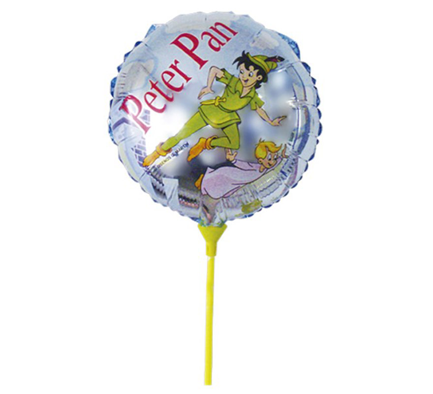 Globo de Peter Pan de poliamida con palo