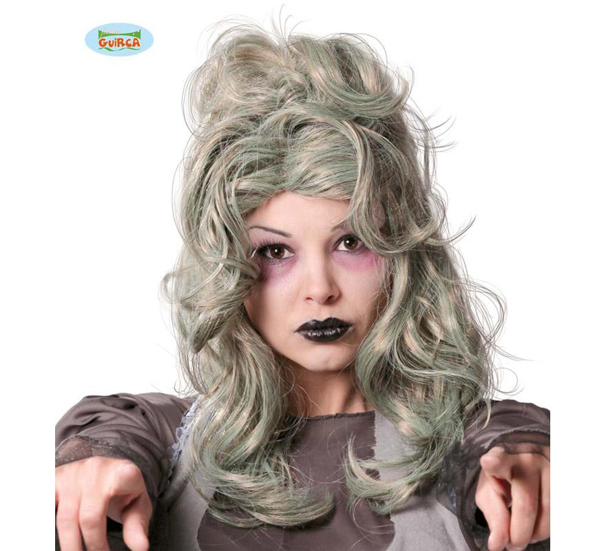 Peluca de Mujer Zombie para Halloween. Perfecta para los disfraces de Novia Cadaver.