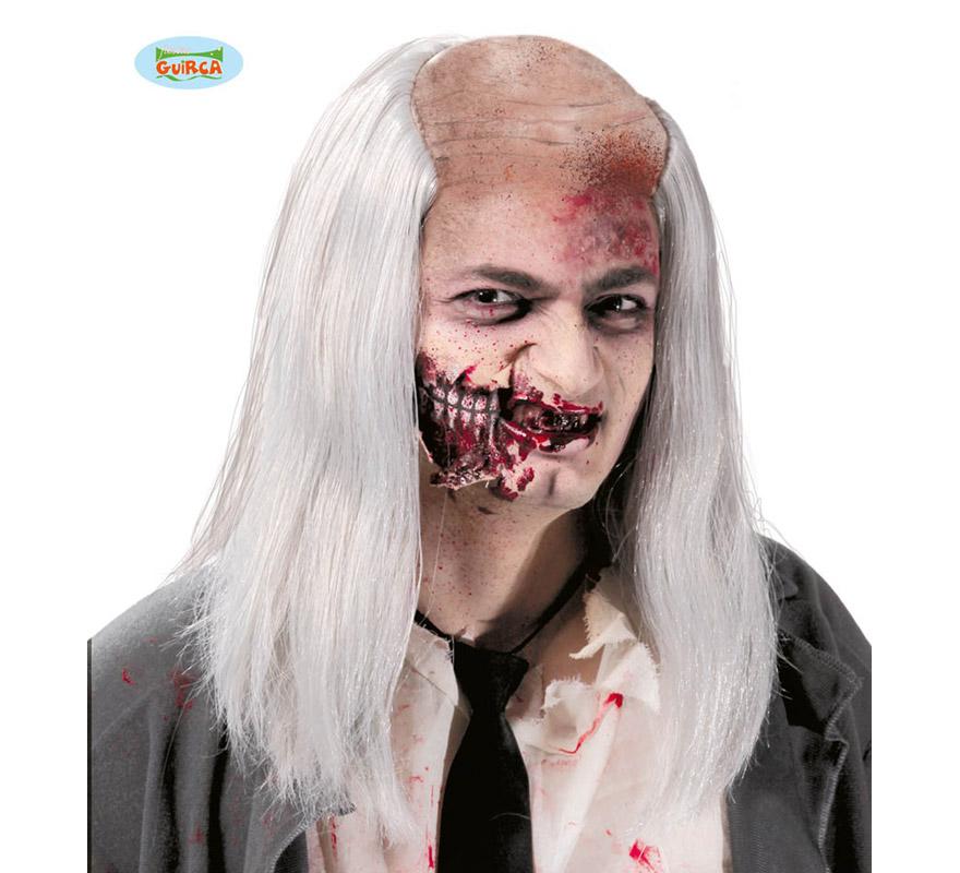 Calva de Zombie con pelo. Envase en caja.