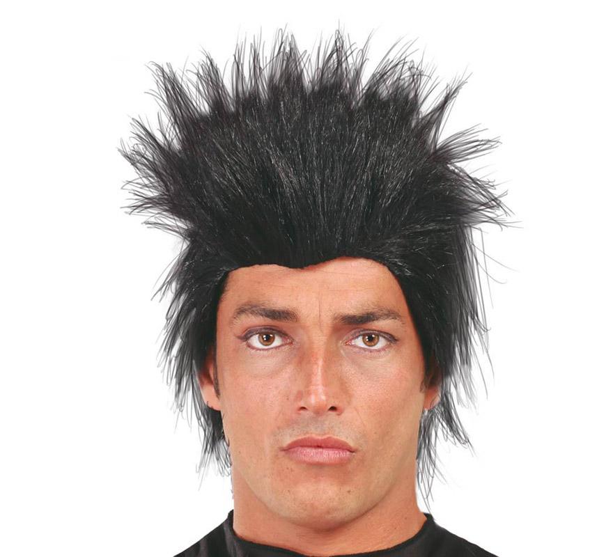 Peluca Punk negra de hombre.