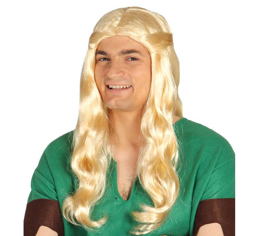 Peluca de Elfo rubia. Envase en caja. Esta peluca también podría valer como Peluca Medieval rubia y Hada.