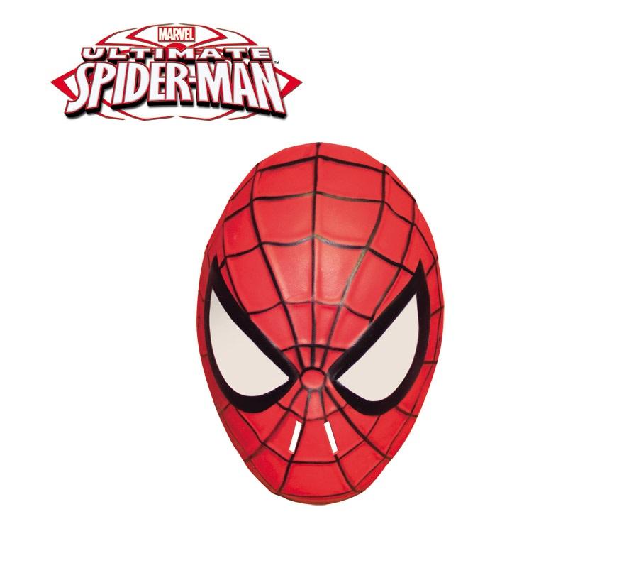 Máscara de Spiderman de EVA con goma.