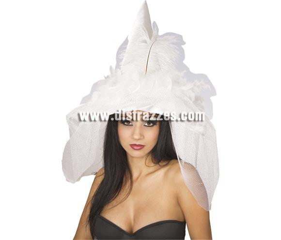 Sombrero Novia Bruja con velo perfecto para Halloween.