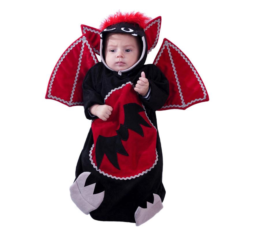 Disfraz o Saquito de Murciélago para Bebés en Varias tallas. Se compone de Saquito con Alas y Capucha. Fabricado en España. Diseño exclusivo de Disfrazzes. Disfraz de alta calidad. Con posibilidad de hacer grandes cantidades para grupos. Con este saquito tu Bebé irá cómodo y calentito. Ideal para Halloween.