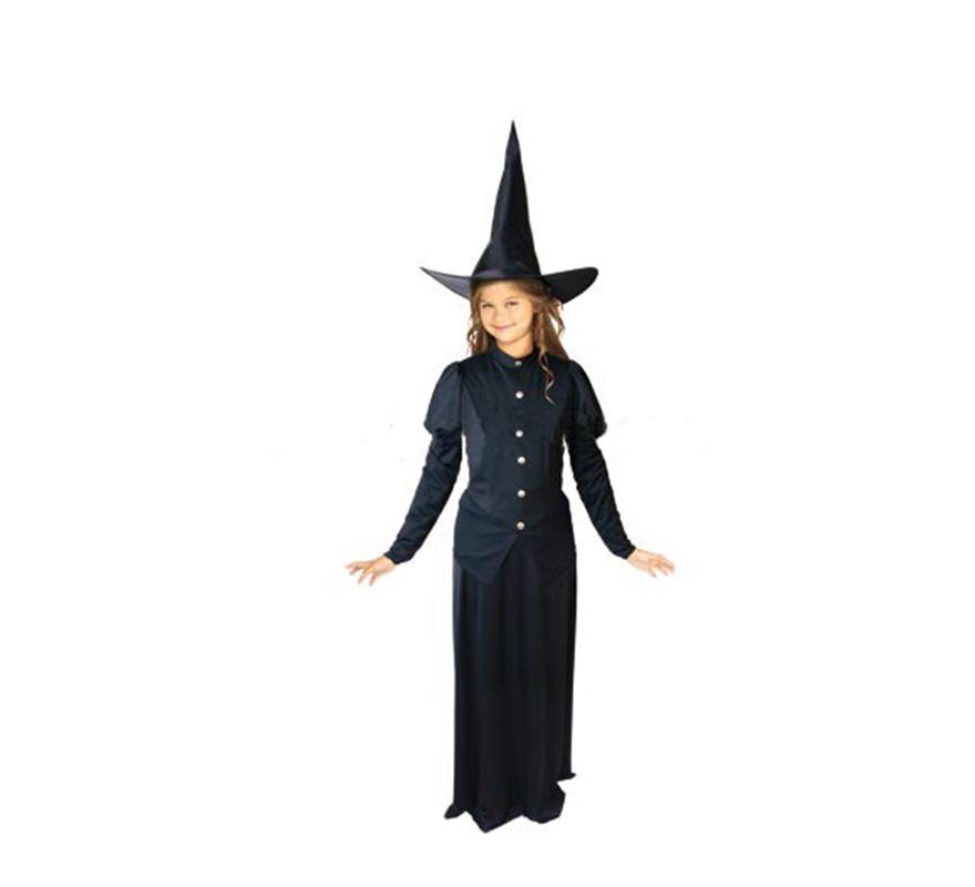 Disfraz barato de Bruja Pirula para niñas de 5 a 7 años. Incluye vestido y sombrero.