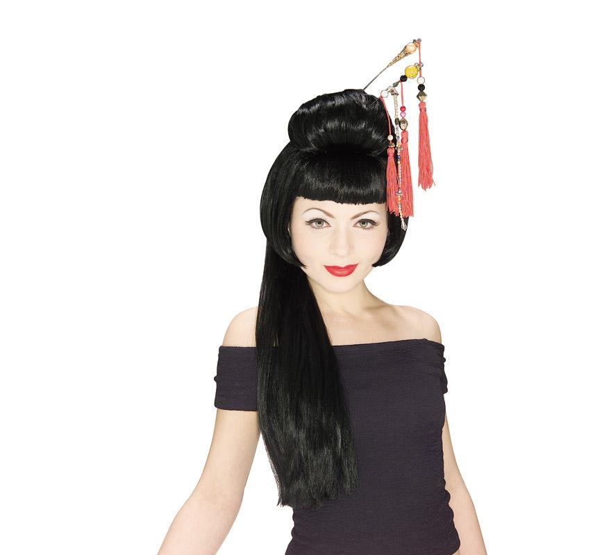 Peluca de China o Geisha mujer.