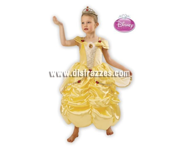 Disfraz de la Bella para niña. Talla de 3 a 4 años. Incluye corona y vestido. Disfraz con licencia Disney ideal para regalar. Éste disfraz es ideal para Carnaval y para regalar en Navidad, en Reyes Magos, para un Cumpleaños o en cualquier ocasión del año. Con éste disfraz harás un regalo diferente y que seguro que a los peques les encantará y hará que desarrollen su imaginación y que jueguen haciendo valer su fantasía.  ¡¡Compra tu disfraz para Carnaval o para regalar en Navidad o en Reyes Magos en nuestra tienda de disfraces, será divertido!!
