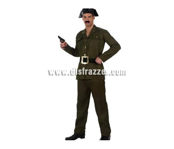 Disfraz de Guardia Civil para hombre. Talla 2 ó talla Standar M-L 52/54. Incluye pantalón, cinturón camisa y tricornio. ¡¡¡Cuidado con la Benemérita!!!