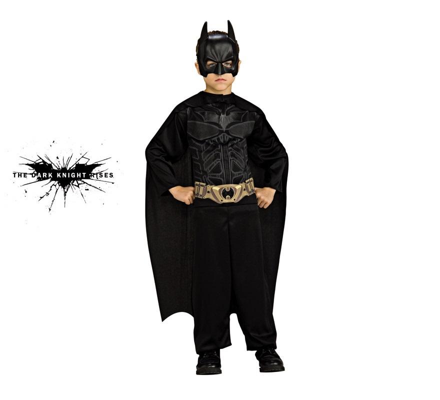 Disfraz de Batman The Dark Knight action suit para niños de 8 a 10 años. Incluye jumpsuit o mono impreso, capa y máscara. Presentación en blister ideal como regalo.