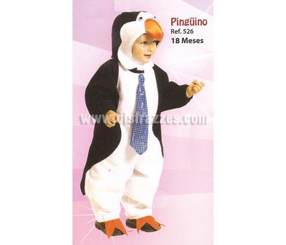 Disfraz de Pingüino para bebés de 18 meses. Incluye disfraz completo tal y como se muestra en la imagen.