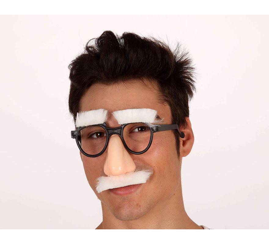 Gafas con cejas y bigote de Anciano