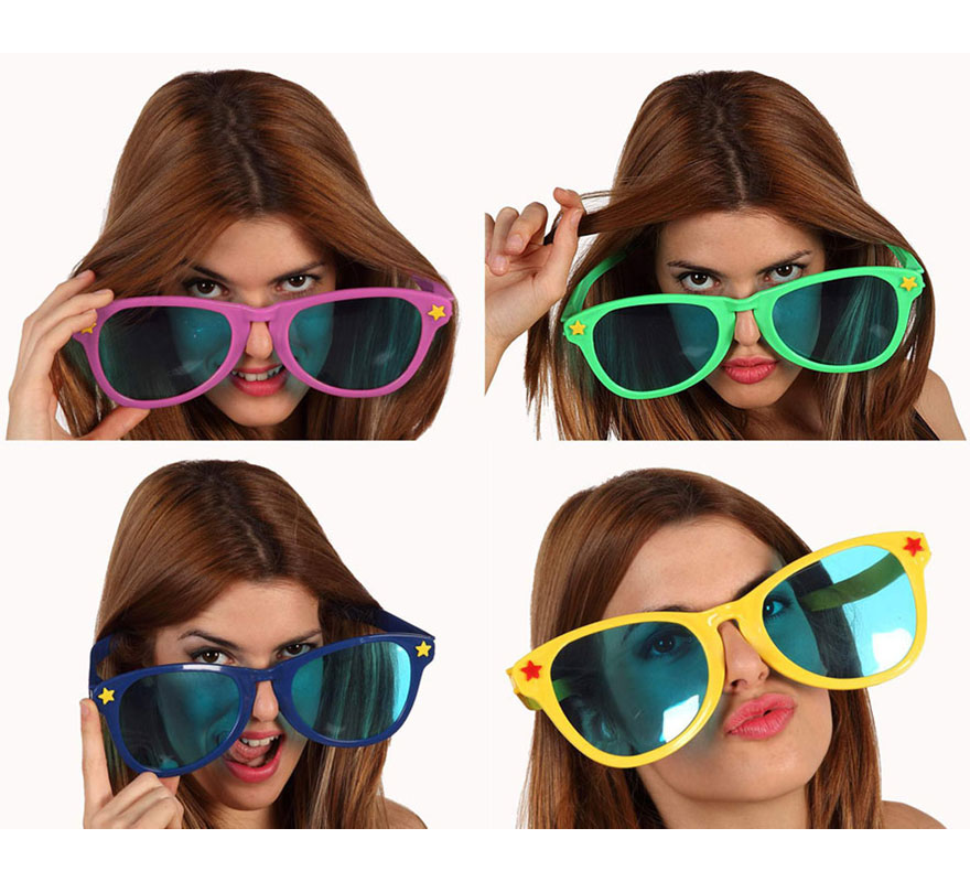 Gafas gigantes super fashion 4 colores sutidos