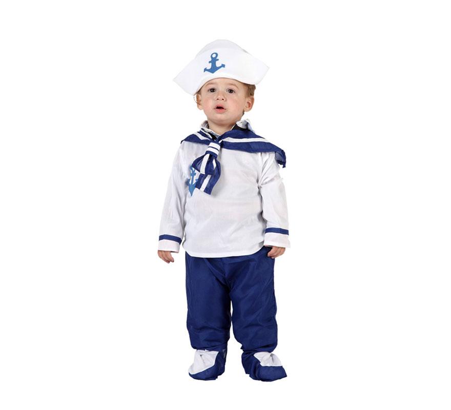 Disfraz de Marinero para niños de 12 a 24 meses. -¿Te imaginas a tu hijo disfrazado de Marinero? -Puede ser la sensación de la Fiesta. Incluye disfraz completo.
