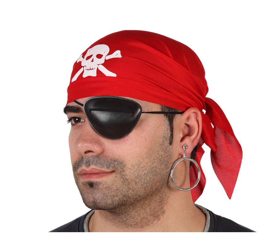 Set Pirata. Incluye pañuelo rojo para la cabeza, parche y pendiente.