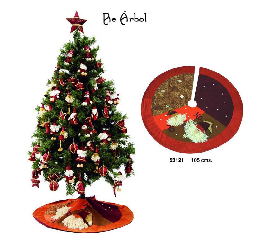 Pie para decorar el árbol de Navidad de 105 cms. en tono dorado.