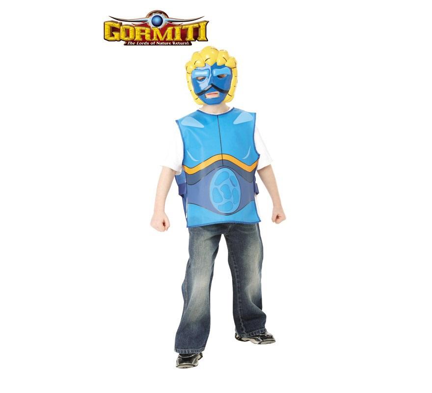 Blister Set Gormiti Agua infantil para Carnaval o para regalar en Navidad. Talla de 5 a 7 años. Incluye tabardo y máscara. Éste disfraz es ideal para regalar en Navidad, en Reyes Magos, para un Cumpleaños o en cualquier ocasión del año.