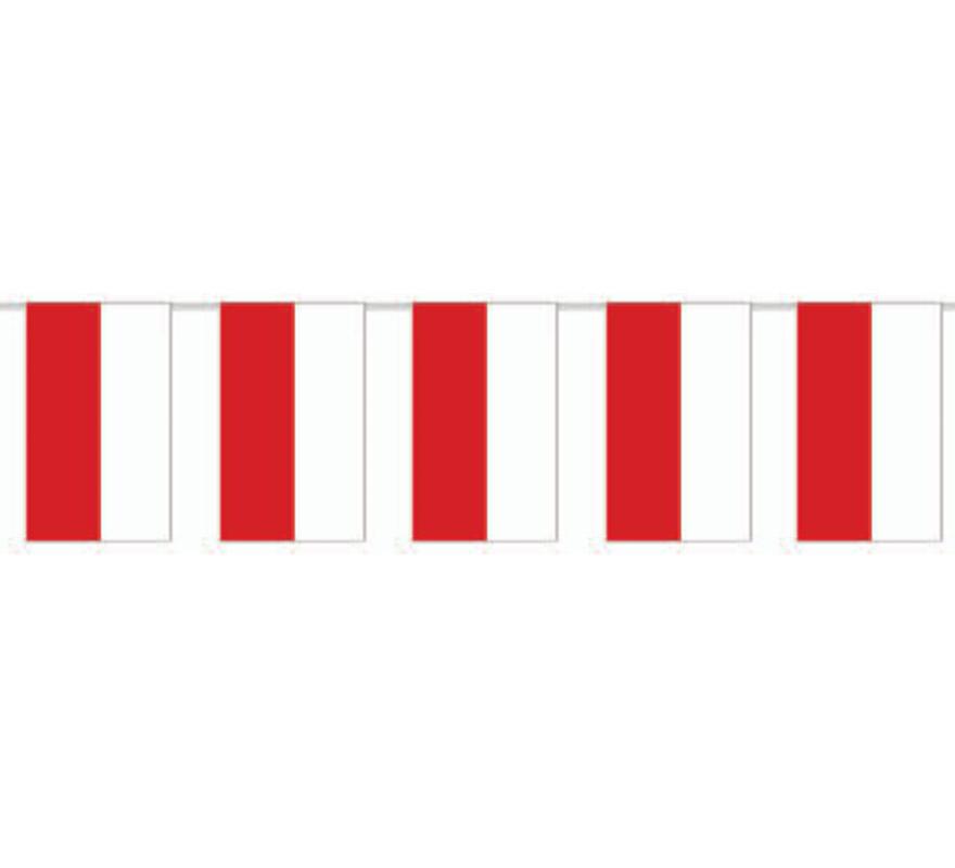 Bolsa de 50 metros Bandera de Cantabria de plástico de 20 x 30 cm. Perfecta para decorar todo tipo de Fiestas.