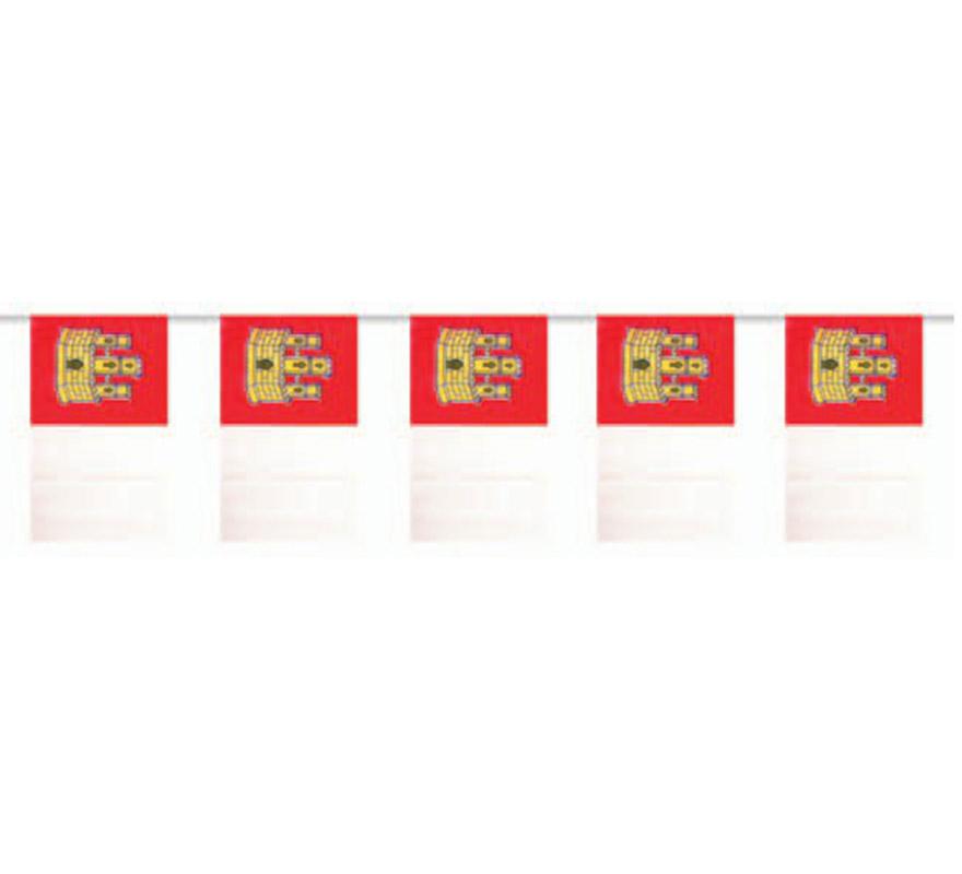 Bolsa de 50 metros Bandera de Castilla la Mancha de plástico de 20 x 30 cm. Perfecta para decorar todo tipo de Fiestas.