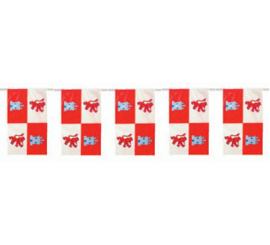 Bolsa de 50 metros Bandera de Castilla León de plástico de 20 x 30 cm. Perfecta para decorar todo tipo de Fiestas.