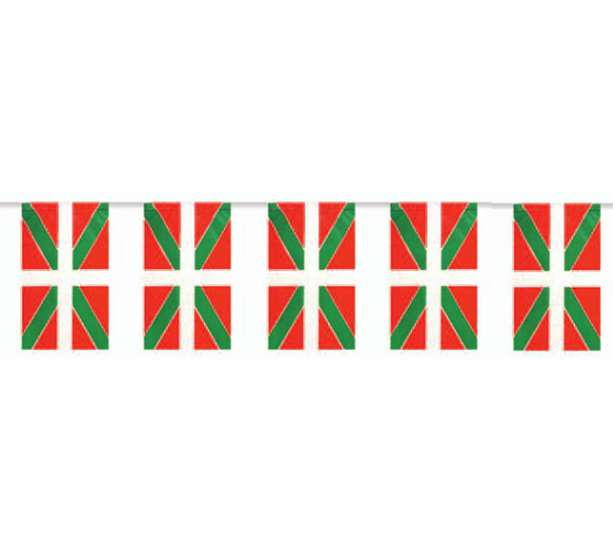 Bolsa de 50 metros Bandera de Euskadi de plástico de 20 x 30 cm. Perfecta para decorar todo tipo de Fiestas.