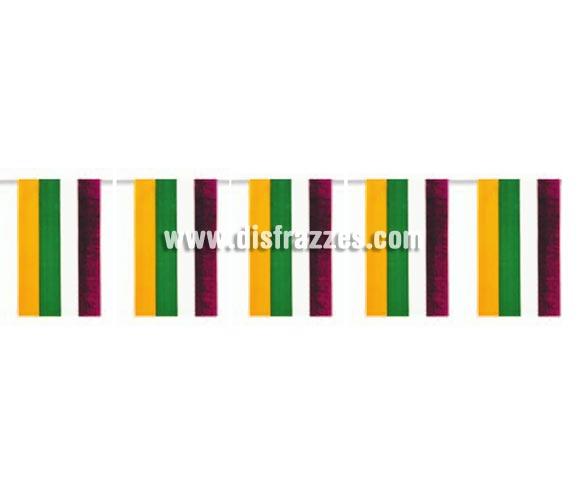 Bolsa de 50 metros Bandera de La Rioja de plástico de 20 x 30 cm. Perfecta para decorar todo tipo de Fiestas.