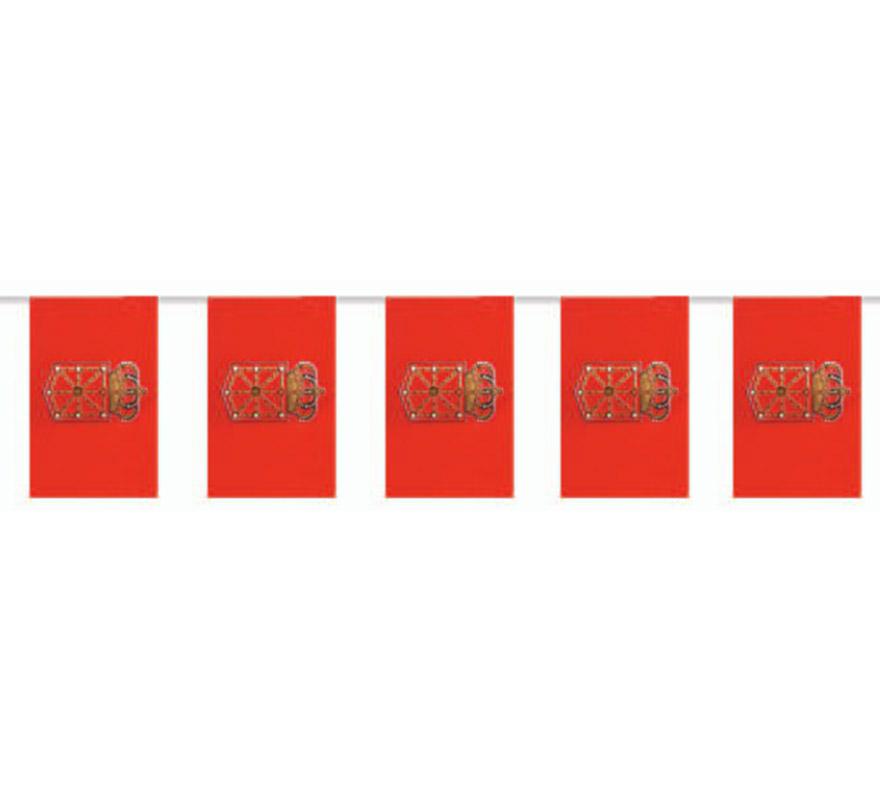 Bolsa de 50 metros Bandera de Navarra de plástico de 20 x 30 cm. Perfecta para decorar todo tipo de Fiestas.