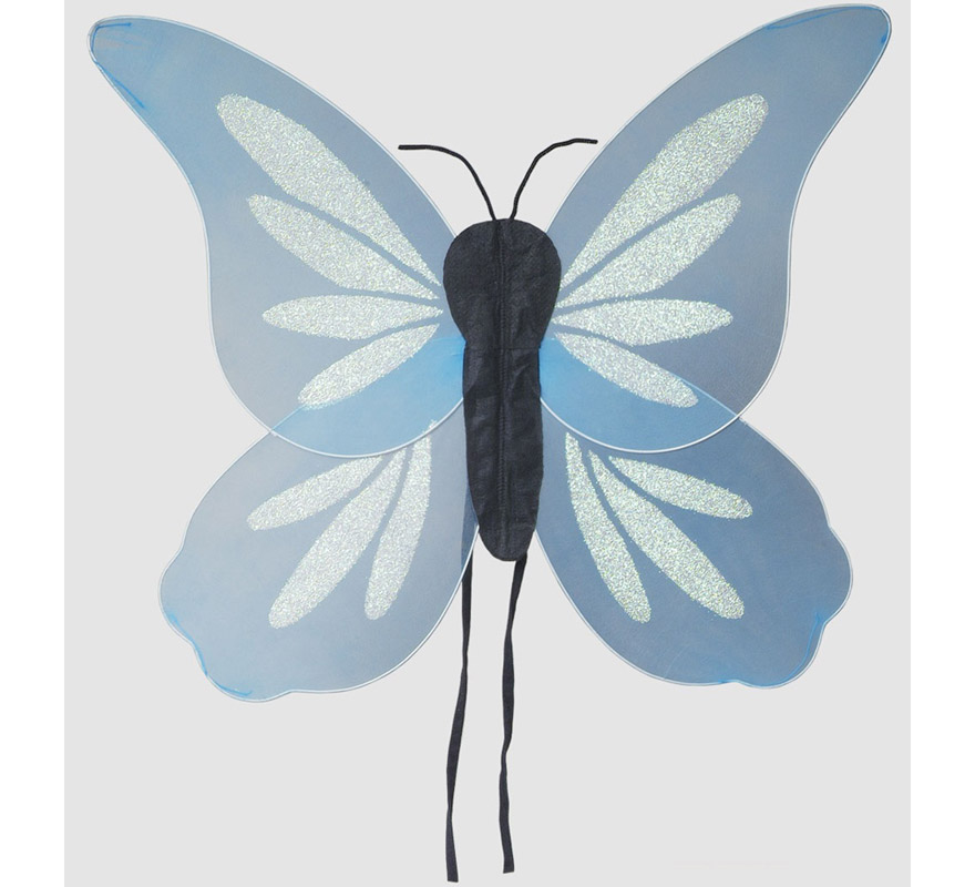 Alas de Mariposa fantasía azul 70x63 cm.