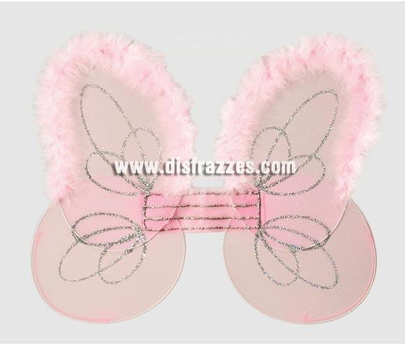 Alas ángel marabú rosa de 40x35 cm.