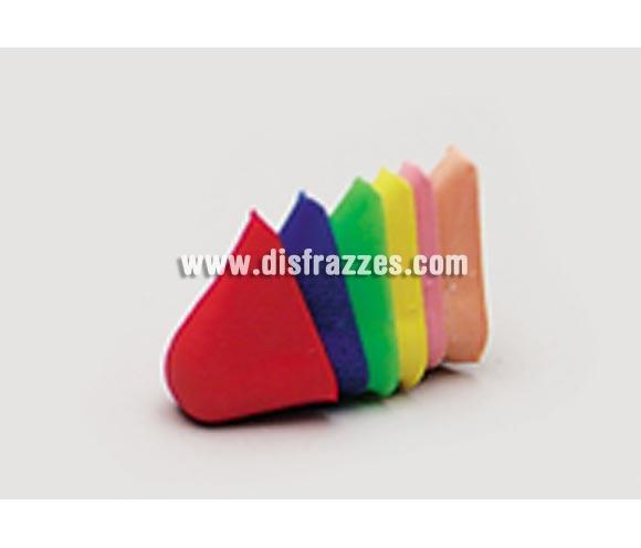 Narices de colores pequeñas con gomita. Se venden por separado.