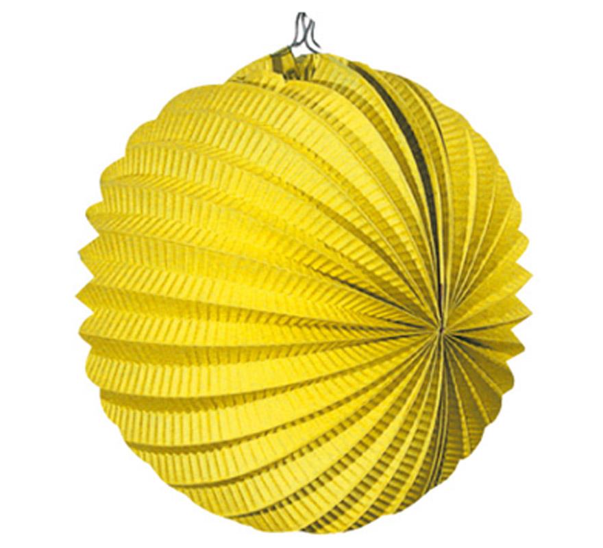 Bolsa de 12 uds. de Faroles amarillos de 22 cm de diámetro. Precio por bolsa de 12 uds. Ideal para decorar cualquier Fiesta Andaluza, Sevillana o Española. Perfectos para la Feria de Abril.
