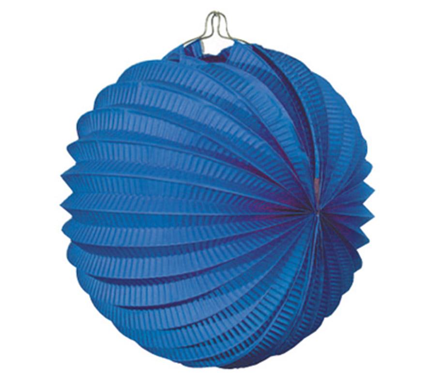 Bolsa de 12 uds. de Faroles azules de 22 cm de diámetro. Precio por bolsa de 12 uds. Ideal para decorar cualquier Fiesta Andaluza, Sevillana o Española. Perfectos para la Feria de Abril.