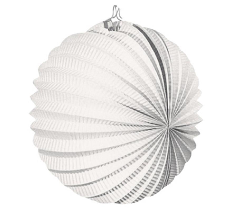 Bolsa de 12 uds. de Faroles blancos de 22 cm de diámetro. Precio por bolsa de 12 uds. Ideal para decorar cualquier Fiesta Andaluza, Sevillana o Española. Perfectos para la Feria de Abril.