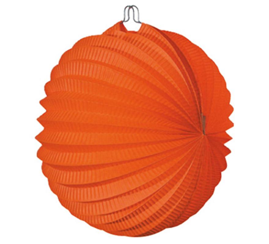 Bolsa de 12 uds. de Faroles naranjas de 22 cm de diámetro. Precio por bolsa de 12 uds. Ideal para decorar cualquier Fiesta Andaluza, Sevillana o Española. Perfectos para la Feria de Abril.