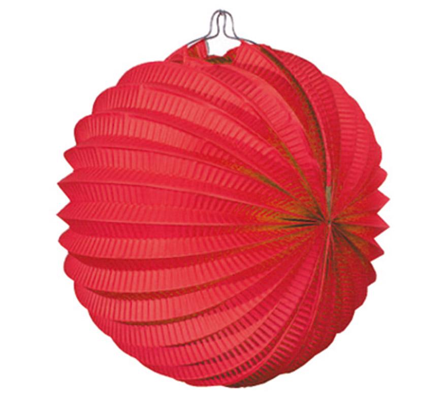 Bolsa de 12 uds. de Faroles rojos de 22 cm de diámetro. Precio por bolsa de 12 uds. Ideal para decorar cualquier Fiesta Andaluza, Sevillana o Española. Perfectos para la Feria de Abril.