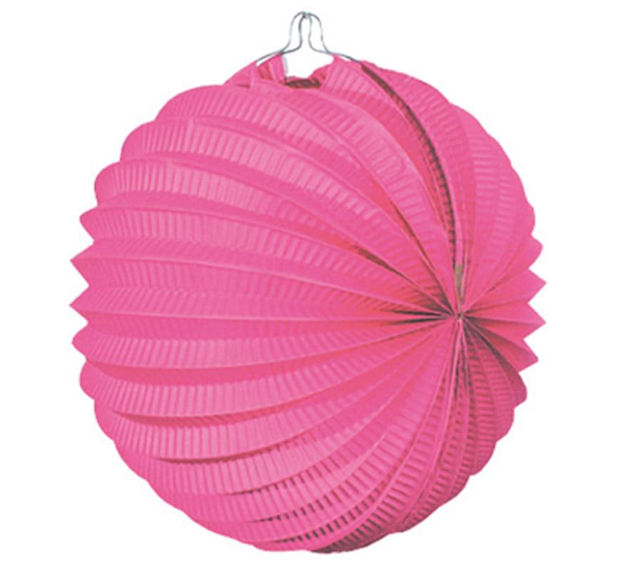 Bolsa de 12 uds. de Faroles rosas de 22 cm de diámetro. Precio por bolsa de 12 uds. Ideal para decorar cualquier Fiesta Andaluza, Sevillana o Española. Perfectos para la Feria de Abril.