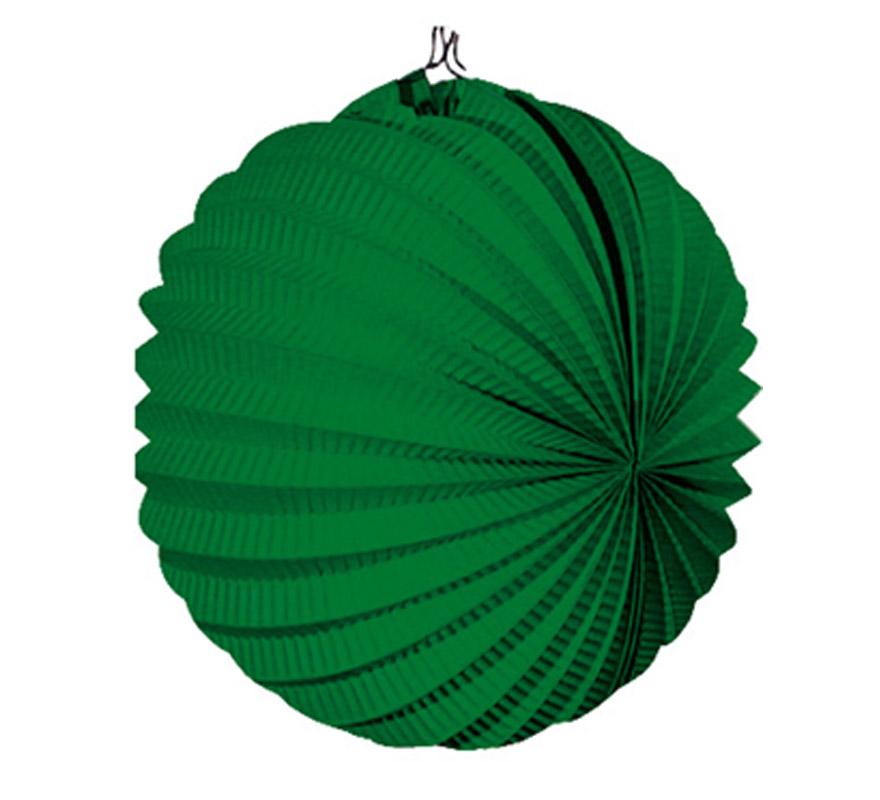 Bolsa de 12 uds. de Faroles verdes oscuro de 22 cm de diámetro. Precio por bolsa de 12 uds. Ideal para decorar cualquier Fiesta Andaluza, Sevillana o Española. Perfectos para la Feria de Abril.