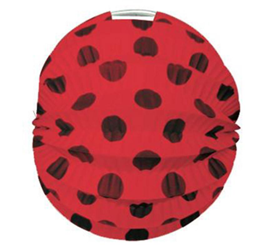 Bolsa de 12 uds. de Faroles rojos con lunares negros de 22 cm de diámetro. Precio por bolsa de 12 uds. Ideal para decorar cualquier Fiesta Andaluza, Sevillana o Española. Perfectos para la Feria de Abril.